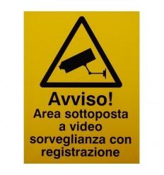 Italian CCTV Warning Window Sticker