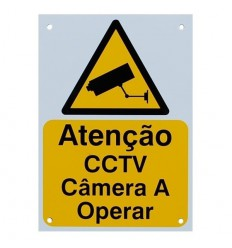 Portuguese A5 External CCTV Warning Sign