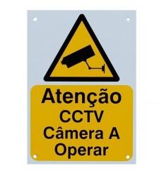 Portuguese A5 External CCTV Warning Sign