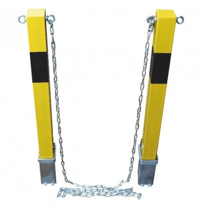 Removable Security Bollards Amp Chain 100p Posts Yellow