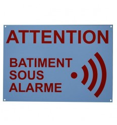 French A4 External Alarm Warning Sign