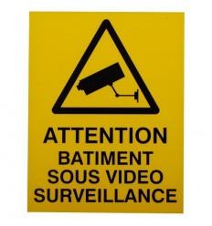 French CCTV Warning Window Sticker