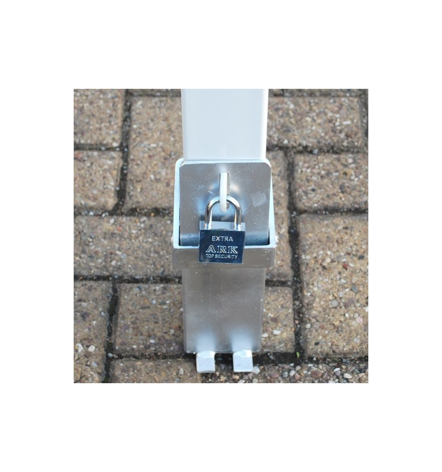 Removable Security Post Bollard White Amp Red 100p