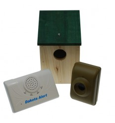 Wireless DCMA 2500E Long Range (800 metre) Driveway Alarm & Wooden Bird-box