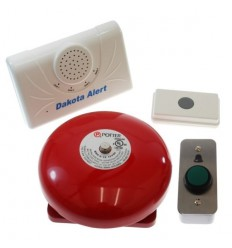 Wireless Warehouse Bell & H/H Universal Push Button