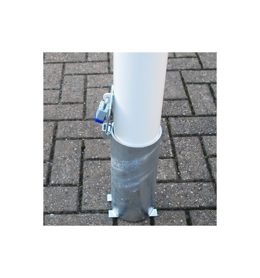 White Amp Yellow 108 Mm Diameter Removable Security Post