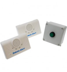 Long Range Wireless Bell, Portable Bell Push & 2 x Receivers