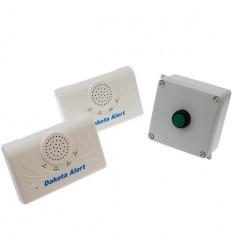 Long Range Wireless Bell, Portable Bell Push & 2 x Receivers
