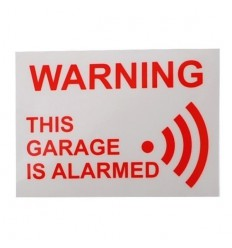 This Garage is Alarmed Window Sticker