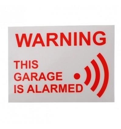 Garage Warning Window Sticker