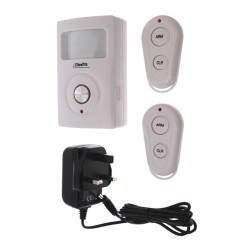 Mains & Battery Powered UltraPIR GSM Alarm & 2 Remotes (3-pin transformer)