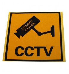English Language CCTV Window Sticker