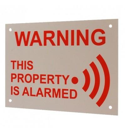 English A5 External Alarm Warning Sign
