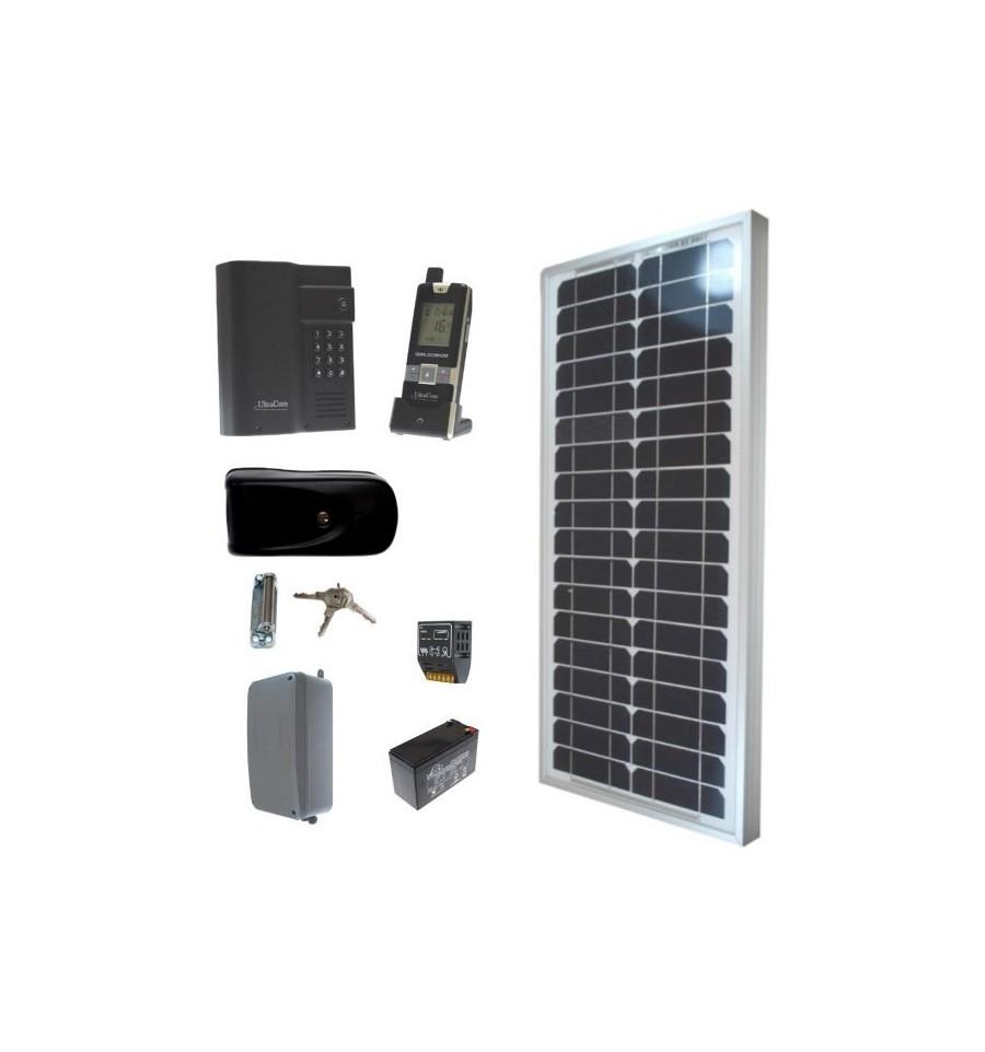 Solar Electronic Gate Lock Amp Wireless Intercom With Keypad