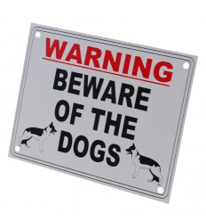 External 'Beware of the Dog' Warning Sign