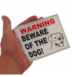 'Beware of the Dog' Window Sticker.