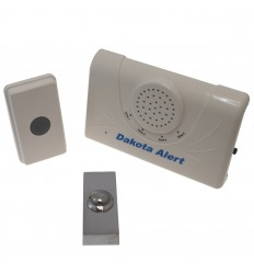 Long Range Wireless Bell & Chrome Push Button.