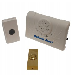 Long Range Wireless Bell & Brass Push Button.