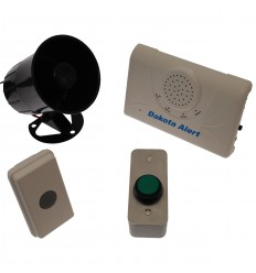Long Range Wireless Bell, H/Duty Push Button & Siren