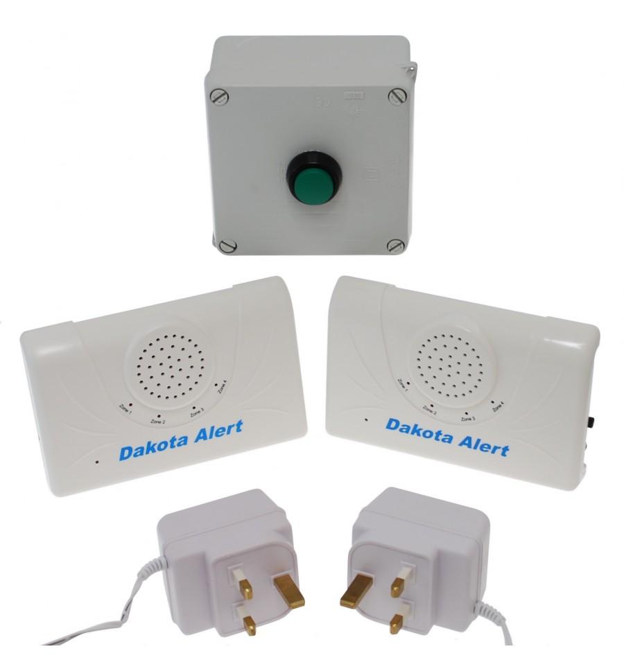 800 Metre Long Range Wireless Bell Portable Bell Push 2 X