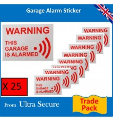 Garage Warning Window Stickers Trade Pack