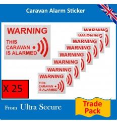 Caravan Warning Window Sticker