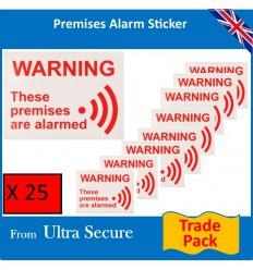 Alarm Warning Window Sticker