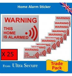 'This Home is Alarmed' Window Sticker Trade Pack
