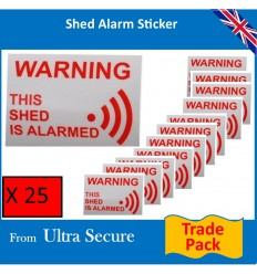 'This Shed is Alarmed' Window Sticker (trade pack)