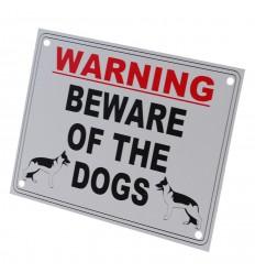 External 'Beware of the Dog' Warning Sign