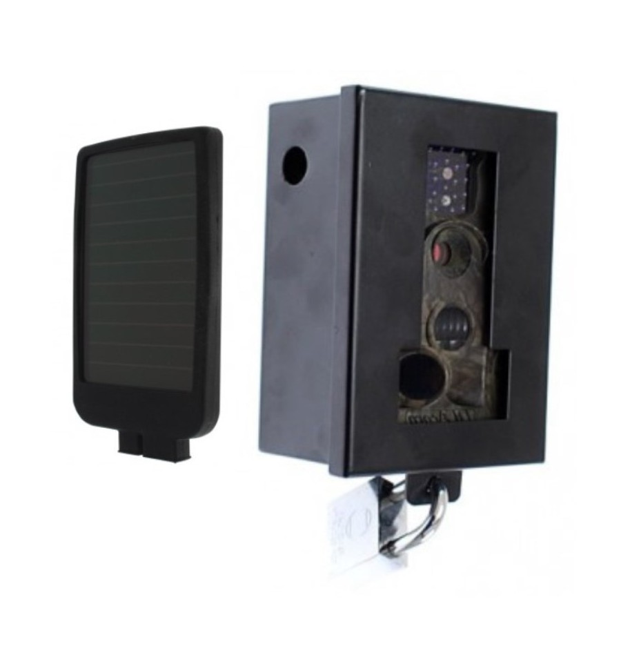 Battery Amp Solar Charged Cctv Camera C60 Protective Steel Cage