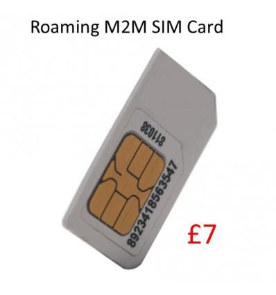 Roaming M2M Sim Card (£7 Credit)