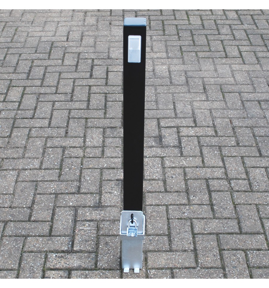 Removable Security Post 100p Black Reflective Pad Parking