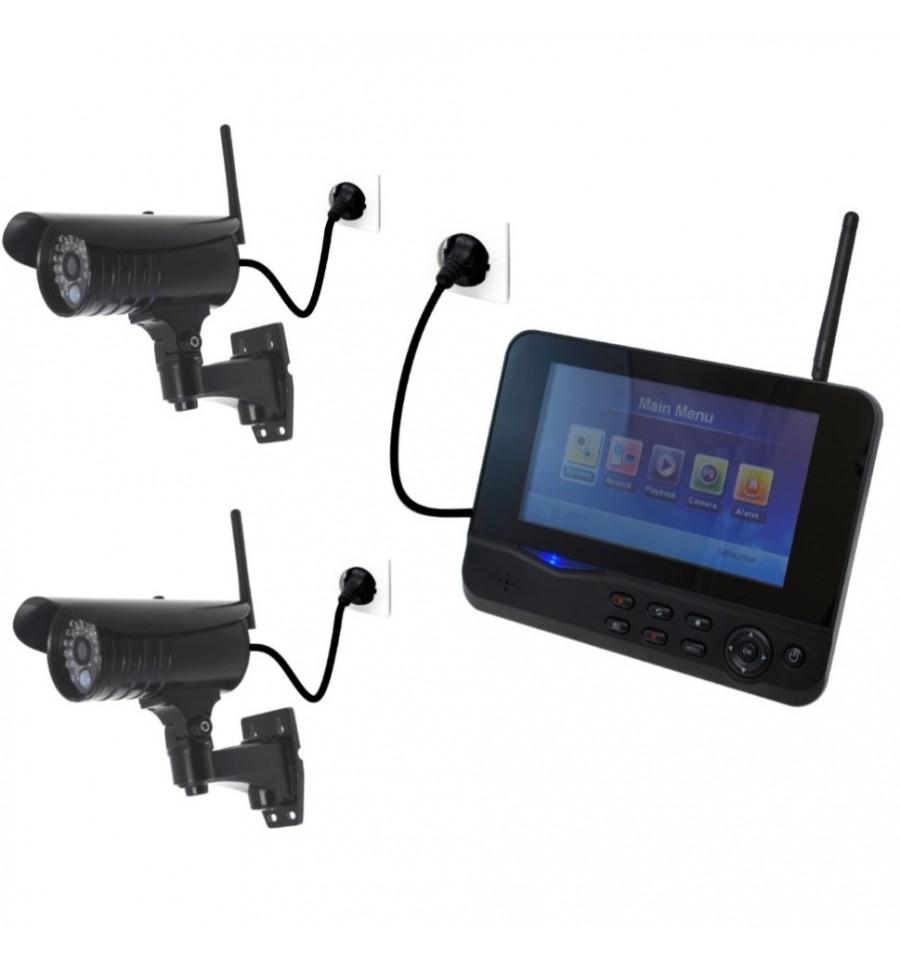 300 Metre Wireless Cctv System 2 X External Cameras