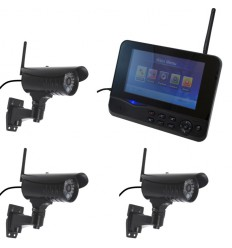 Wireless CCTV with 3 x 20 metre Night Vision Cameras