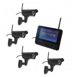Wireless CCTV with 4 x 20 metre Night Vision Cameras