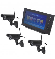 Wireless Network CCTV with 3 x 20 metre Night Vision External Camera