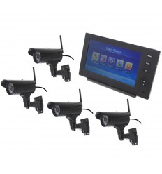 Wireless Network CCTV with 4 x 20 metre Night Vision External Cameras