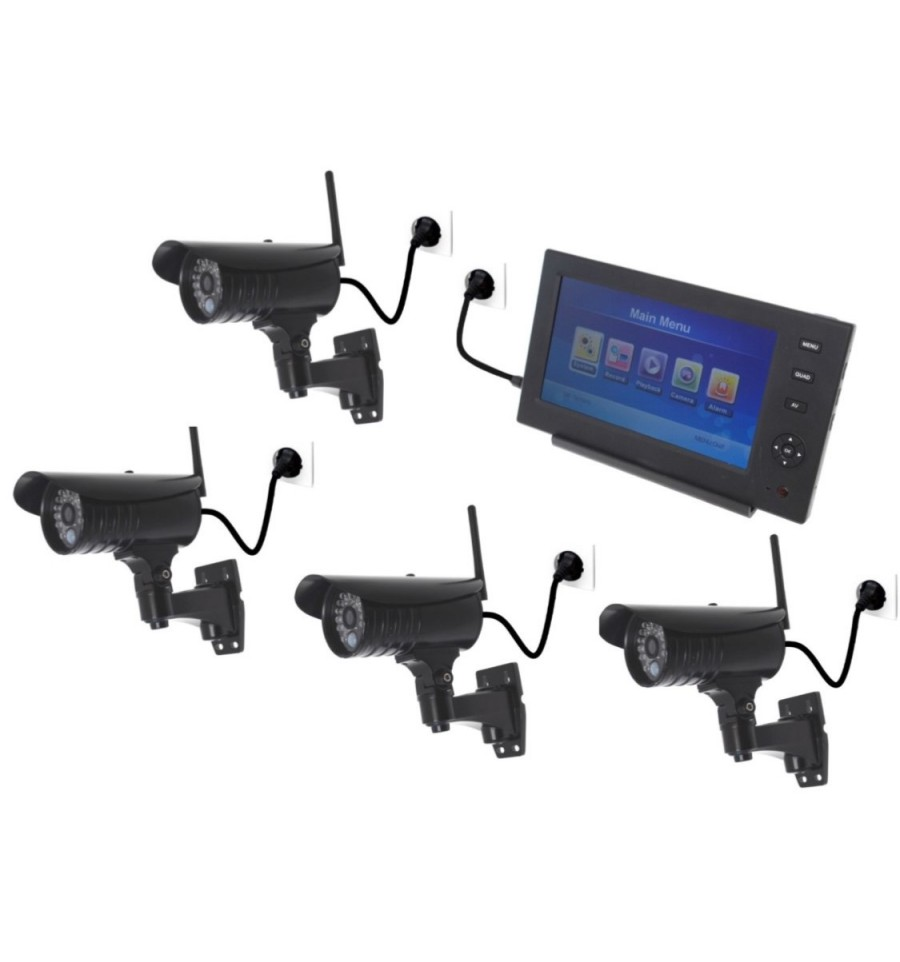 Wireless Network Cctv System 4 X Night Vision External