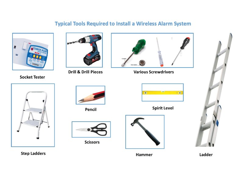 Tools for a Wireless Alarm Installation