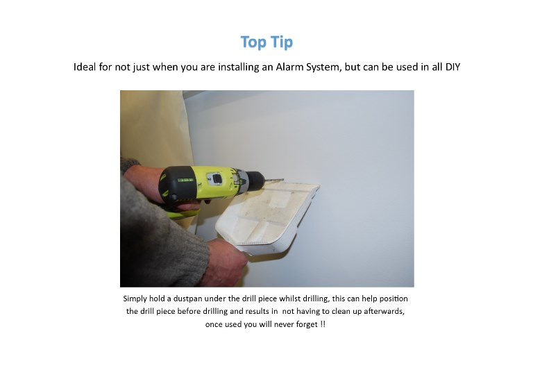 Top Tip for Wireless Alarm Installation & General DIY