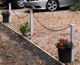 Parking Bollards with Chain